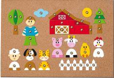 Woody Korková doska s pribíjacími tvarmi Zvieratká, 150 dielov