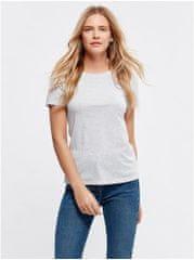 M&Co světle šedé basic tričko