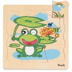 Woody Fa puzzle A béka fejlődése