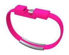 Havana micro USB podatkovni kabel, narukvica, ružičasti