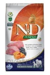 N&D Pumpkin DOG Adult M/L Lamb & Blueberry 12 kg