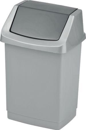 Curver koš za odpadke CLICK-IT 25L, srebrn