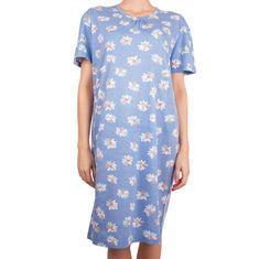 Molvy Dámská noční košile modrá s květinami