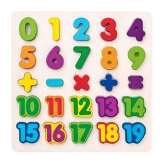 Woody slagalica s brojevima na ploči, drvena