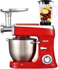 DMS Germany KMFB-2100R kuchyňský robot 3v1 2100 W / kovové převody / červená