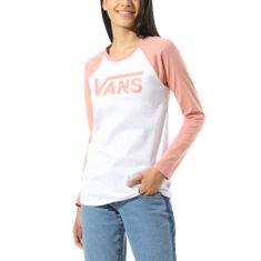 Vans Damska koszulka WM Flying V LS Raglan White/Rose Dawn