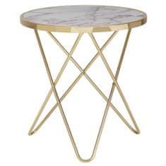 Bruxxi Odkladací stolík Galla, 57 cm, zlatá