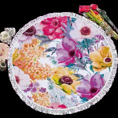 GOLDSUN Tengerparti törülköző / takaró Virágok - lila - 155 cm