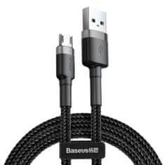 BASEUS Cafule kabel USB / Micro USB 2A 3m, černý/šedý