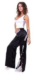 Nebbia Saténové Button Up kalhoty 685 černé