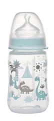 NIP PP fľaša so širokým hrdlom, 260 ml, silikón cumlík M