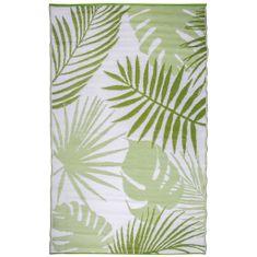 Esschert Design Venkovní koberec 241 x 152 cm pralesní listy OC22