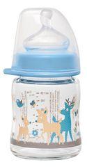 NIP sklenená fľaša so širokým hrdlom, 120 ml, silikón cumlík M