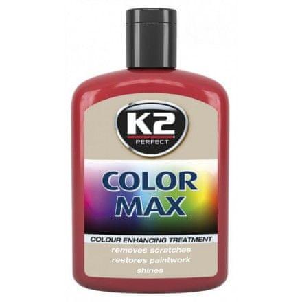 K2 barvna pasta z voskom Color Max, 200 ml, rdeča