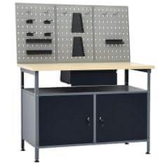 shumee Pracovný stôl s tromi stenovými panelmi