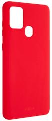 Fixed Zadný pogumovaný kryt Story pre SamsungGalaxy A21s FIXST-552-RD, červený