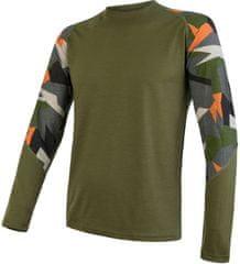 Sensor pánske tričko Merino Impress dlhý rukáv