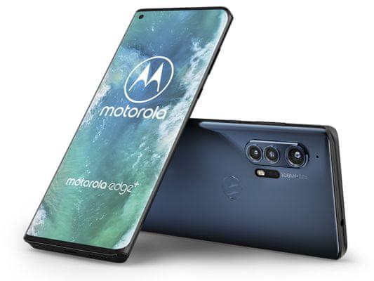 Motorola Edge+, dlouhá výdrž velkokapacitní baterie rychlé nabíjení bezdrátové nabíjení reverzní dobíjení