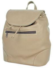 VegaLM Kožený batoh z pravej hovädzej kože vo khaki farbe