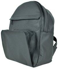 VegaLM Kožený batoh z prírodnej kože na zips v čiernej farbe