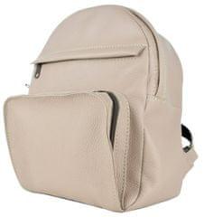 VegaLM Kožený batoh z prírodnej kože na zips v ružovej farbe