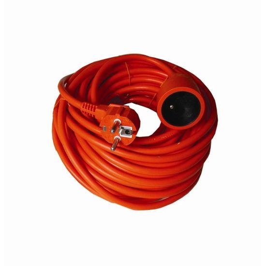 Solight Prodlužovací kabel 230V/10A - 25m, 1 zásuvka, 3 x 1.5mm, IP20, oranžový