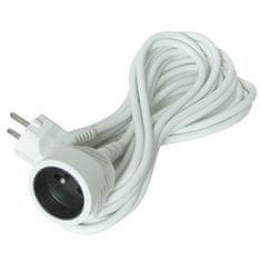 Solight Prodlužovací kabel 230V/10A - 15m, 1 zásuvka, 3 x 1mm, IP20, bílý