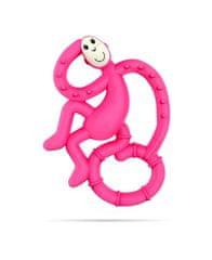 Matchstick Monkey mini grickalica s masažnom četkicom za zube, ružičasta
