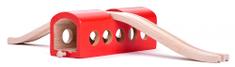 Woody Pályakiegészítő - piros alagút felüljáróval