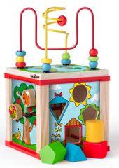 Woody didaktična kocka, majhna, s čarobnimi kolesi