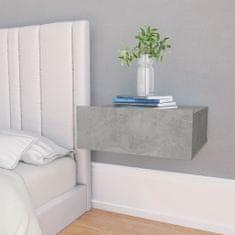 shumee betonszürke forgácslap úszó éjjeliszekrény 40 x 30 x 15 cm