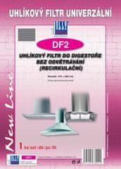 Jolly DF2 Univerzální uhlíkový a tukový filtr do digestoře bez odvětrání