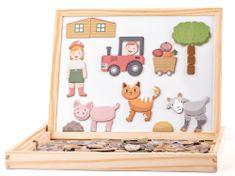 Woody magnetna miza z živalmi, dvostranska