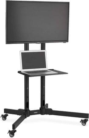 VonHaus TV postolje i kolica za prijenosno računalo, 81,3-165 cm, do 50 kg