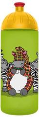 """FreeWater s.r.o. Láhev 0,7l """"Veselé zebry"""", zelená"""