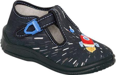 Zetpol papuče za dječake Piotrus 729, 25, crne