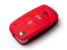 Escape6 červené ochranné silikonové pouzdro na klíč pro VW/Seat/Škoda s vystřelovacím klíčem
