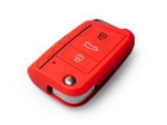 Escape6 červené ochranné silikonové pouzdro na klíč pro VW/Seat/Škoda novější generace, s vystřelovacím klíčem