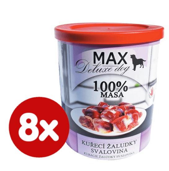 FALCO MAX deluxe kuřecí žaludky, svalovina 8x800 g
