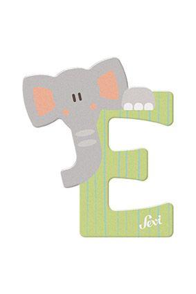 Sevi Letter E - Animal, Green