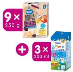 Nestlé Mliečna kaša Pšenično-ovsená Jablko Slivka 9 x 250 g