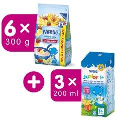 Nestlé Mliečna kaša jahoda a banán 6x300g