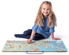 Woody Európa mágneses térképe, társasjáték 3 az 1-ben angol nyelven
