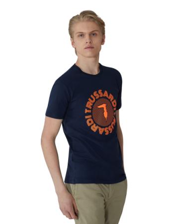 Trussardi Jeans moška majica 52T00327-1T003610, XXL, temno modra