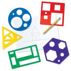 Learning Resources Šablóny základných geometrických tvarov