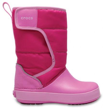 Crocs dekliška obutev za sneg Kids' LodgePoint Snow Boot 204660-6LR, 24-25, roza
