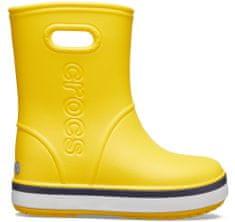 Crocs dekliški škornji Crocband Rain Boot K Yellow/Navy 205827-734