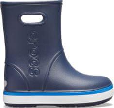 Crocs fantovski škornji Crocband Rain Boot K Navy/Bright Cobalt 205827-4KB