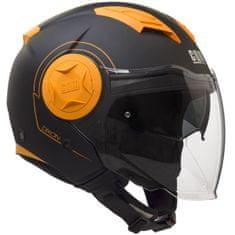 CGM Otevřená přilba moto Dixon– oranžová