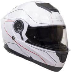 CGM Výklopná přilba moto Kyoto– bílá